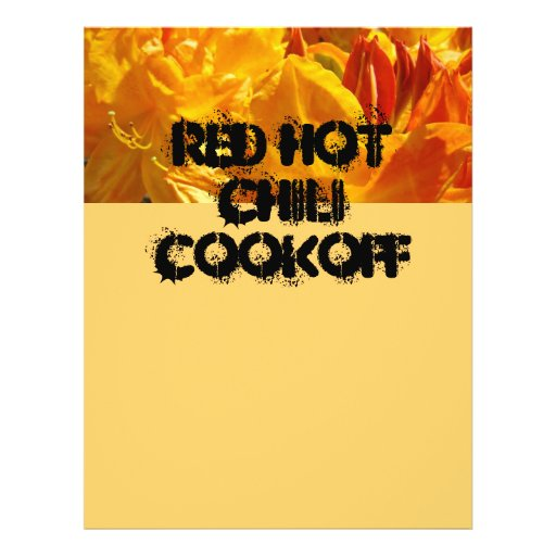 Red Hot Chili Cookoff Flyers Best Chili Contest