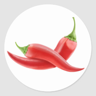 Red hot chili peppers round sticker
