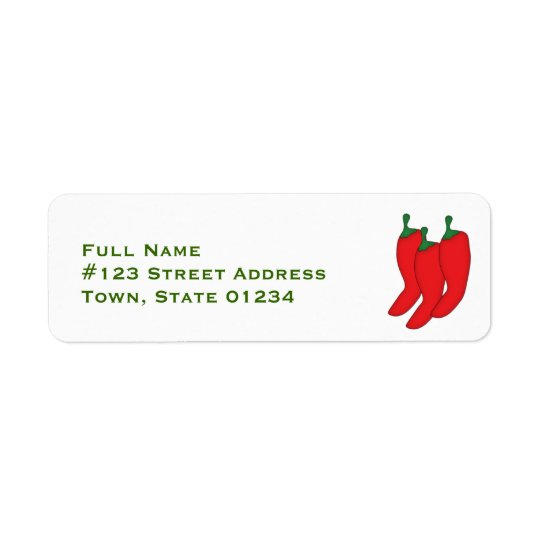 Red Hot Chilis Mailing Labels