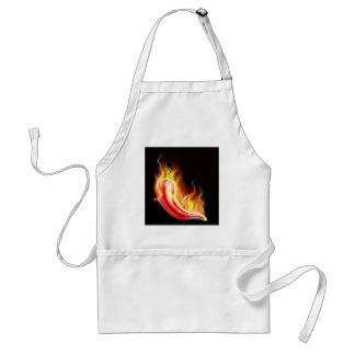 Red Hot Chilli Pepper on Fire Standard Apron