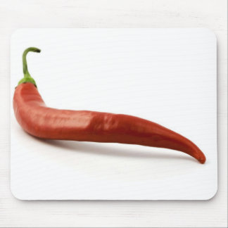 Red Hot Chilli Pepper On White Background Mouse Pads