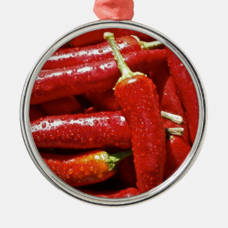 Red hot chilli peppers christmas ornament