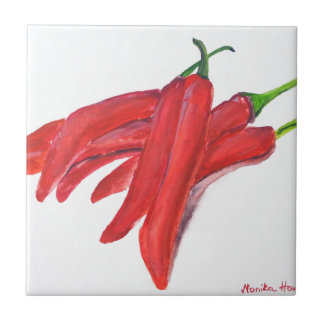 Red hot chilli peppers tile