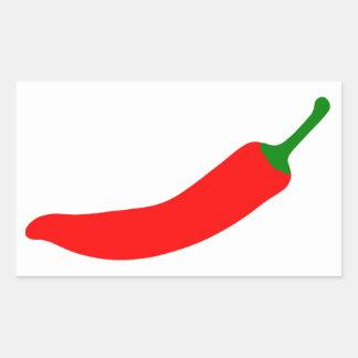 Red Hot Chilli Rectangular Sticker