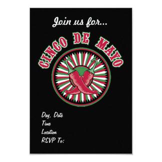 Red HOT! Cinco de Mayo Party Invitations