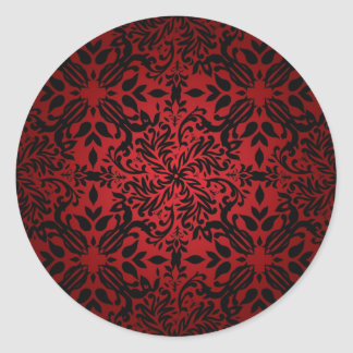 Red hot classic classic round sticker