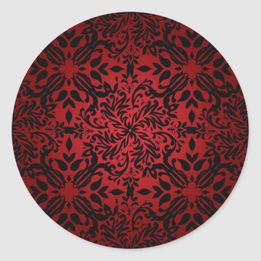 Red hot classic round sticker