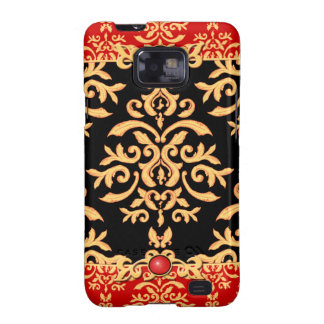Red Hot Damask Night Club Baroque Samsung Galaxy S Cases