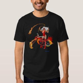 Red Hot Dragon Biker Babe T-shirt