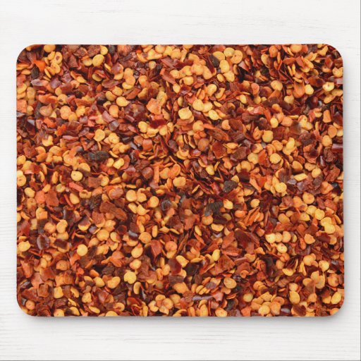 Red hot dried chilli flakes mousemat