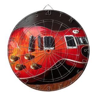 Red Hot Electric Guitar Dartboard