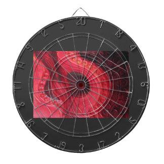Red Hot - embossed metal Dartboard