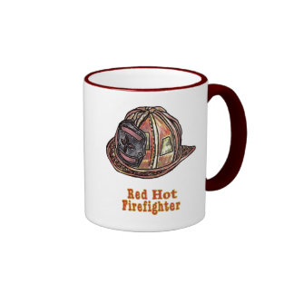 Red Hot Firefighter Coffee Mugs