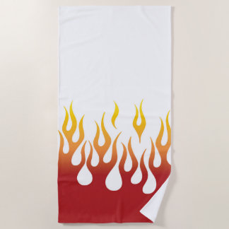 Red Hot Flames Beach Towel