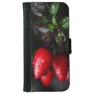Red Hot Garden Salsa Chili Peppers. iPhone 6 Wallet Case