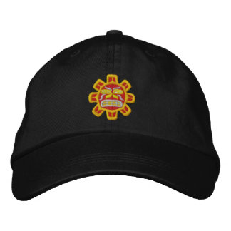 red hot Haida sun Embroidered Hat