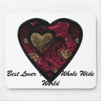 """Red Hot Love Heart"" products"".* Mouse Pad"