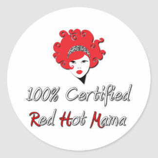 Red Hot Mama Classic Round Sticker