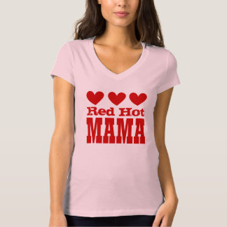 Red Hot Mama with RED Hearts T-Shirt