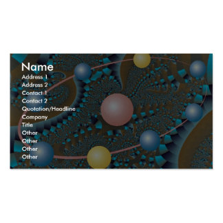 Red-hot nucleus photo business cards