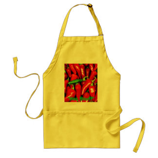 Red Hot Peppers apron by Zoltan Buday