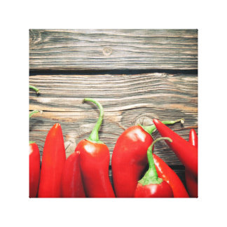 Red hot peppers canvas print