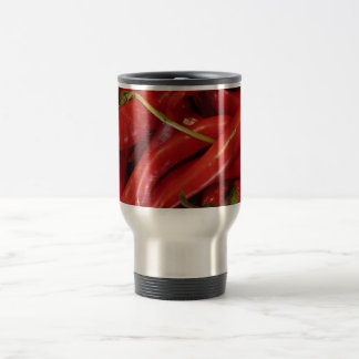 Red Hot Peppers Stainless Steel Travel Mug