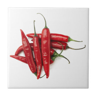 Red Hot Peppers Tile