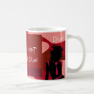 Red Hot Punk Diva I Basic White Mug