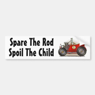 """""""Red Hot Rod Car Spare The Rod, S... Bumper Sticke Bumper Sticker"""