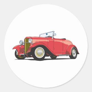 Red Hot Rod Classic Round Sticker