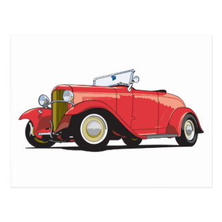 Red Hot Rod Postcard