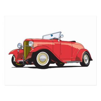 Red Hot Rod Postcard
