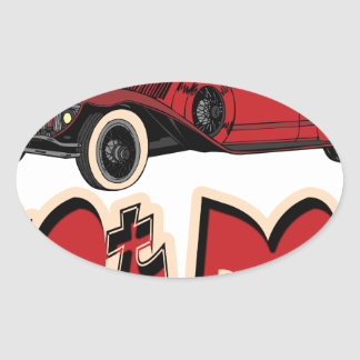 Red Hot Rod Stickers
