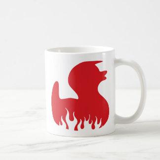 red hot rubber duckie basic white mug