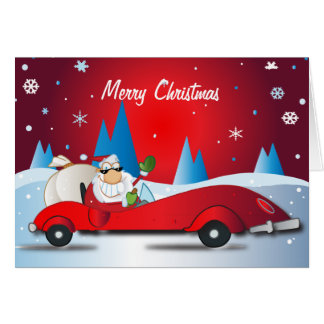 Red Hot Santa Greeting Card
