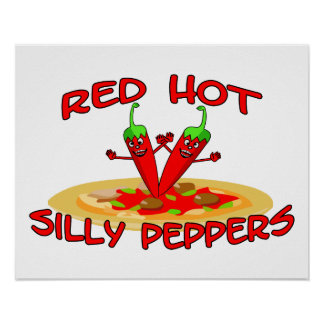 Red Hot Silly Peppers Poster