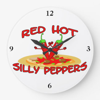 Red Hot Silly Peppers Wallclock