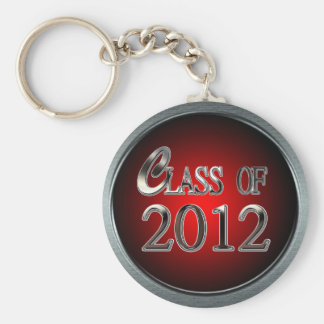 Red Hot Silver Class Of 2012 Keychain