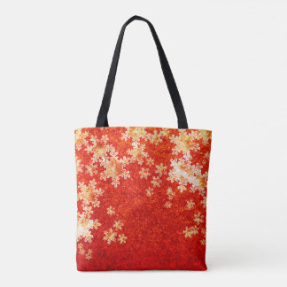 Red Hot Snowflakes Tote Bag