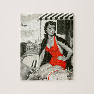 Red Hot Woman Jigsaw Puzzle