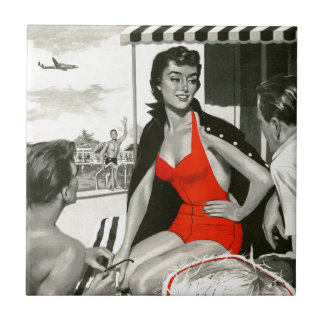 Red Hot Woman Tile