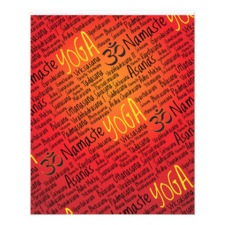 Red Hot Yoga Lover's Om Symbol Pattern 11.5 Cm X 14 Cm Flyer