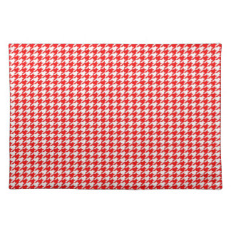 Red Houndstooth Placemat