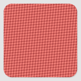 Red Houndstooth Stickers