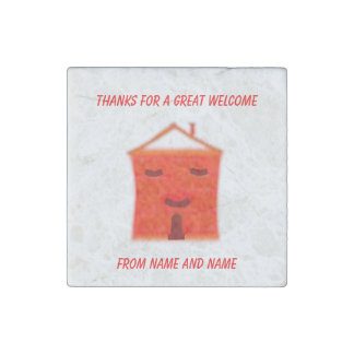 Red House, House Warming Party gifts Stone Magnet