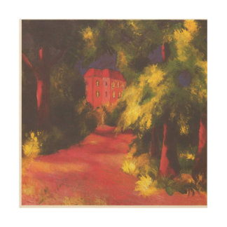 Red House in the Park by August Macke Wood Print