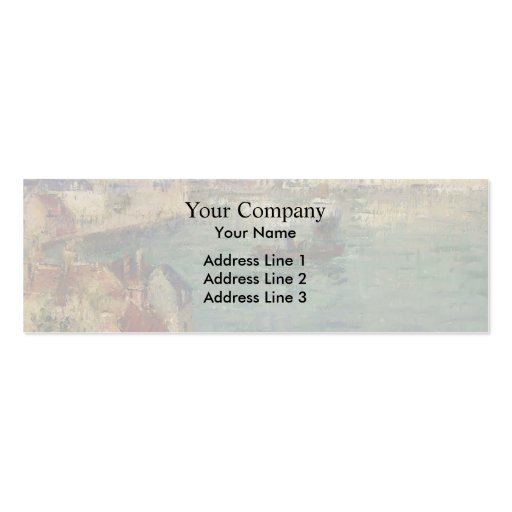 Red House near Port Marly by Gustave Loiseau Business Card Templates