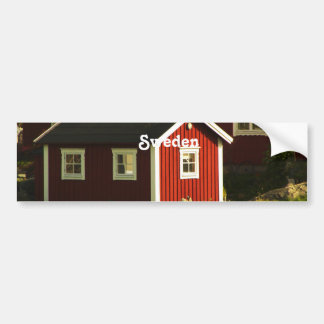 Red Houses in Sweden Bumper Sticker