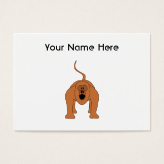 Red Howler Monkey Cartoon Business Card